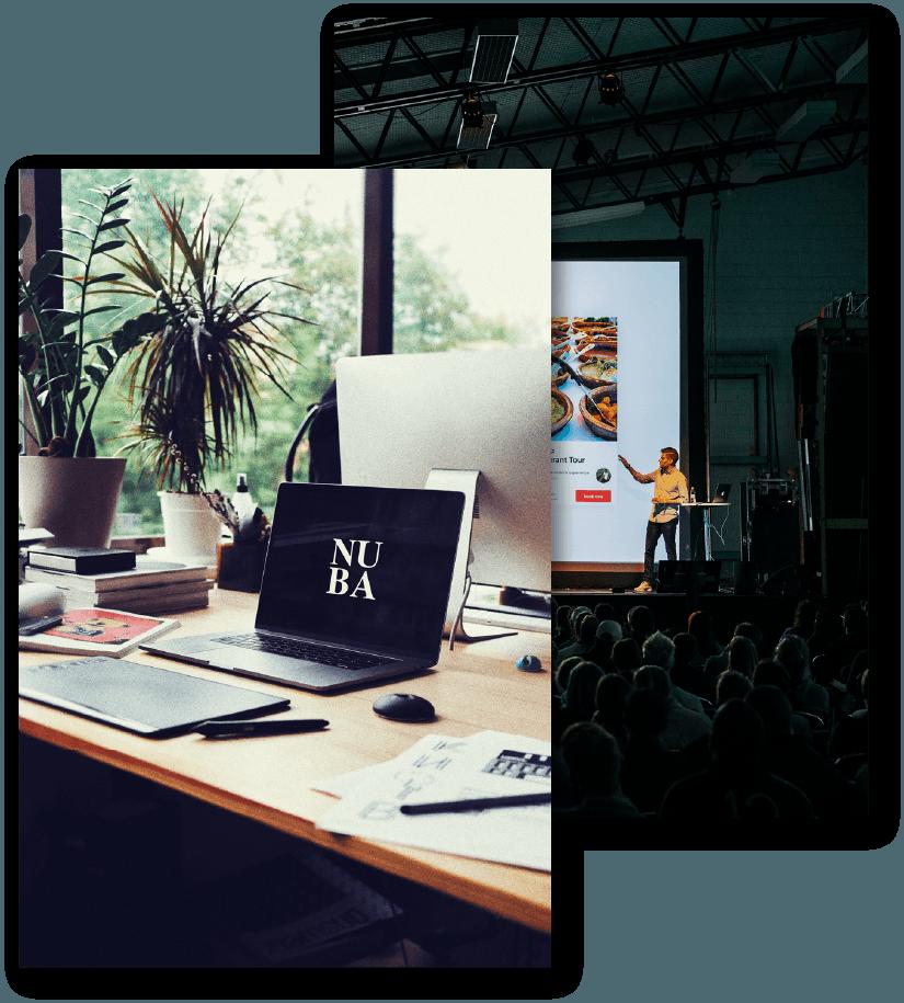 Áreas de trabajo del Equipo de Eventos NUBA